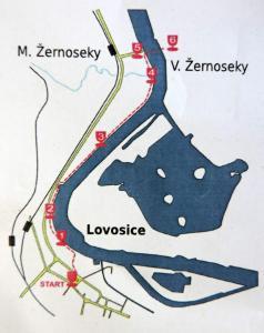 Mapka putování (repro ze startovního lístku)